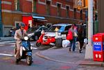 Vespa Suit and Tie in the City